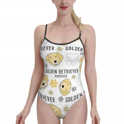 Dog Breed CollectionWomens Swimwear One Piece Swimsuitsspa,Polyester.