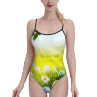 Easter Egg (2)Womens Swimwear One Piece Swimsuitsspa,Polyester.