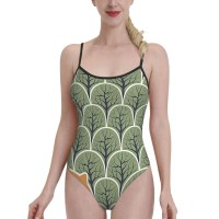 Find The FoxWomens Swimwear One Piece Swimsuitsspa,Polyester.