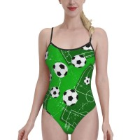 Football Gate And Soccer Sports GroundWomens Swimwear One Piece Swimsuitshoneymoon,Polyester.