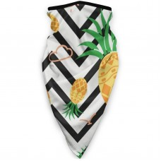 Hawaiian Geometric PineappleSun UV Dust Face Scarfponytail (3.94*3.94*0.79 inches). Polyester.