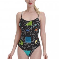 Math Count On It!Womens Swimwear One Piece Swimsuitsspa,Polyester.