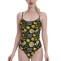 Mexican Food Pattern (2)Womens Swimwear One Piece Swimsuitsspa,Polyester.