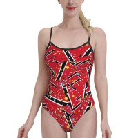 Trinidad And TobagoWomens Swimwear One Piece Swimsuitsswimming pool,Polyester.