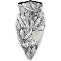 Water Lilies And Dragonflies Pattern01Sun UV Dust Face Scarfhead wrap (3.94*3.94*0.79 inches). Polyester.