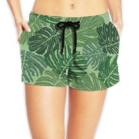 Women's Cotton Beach Shorts with Drawstringbeach volleyball. Polyester.