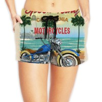 Women's Cotton Beach Shorts with Drawstringcycling. Polyester.