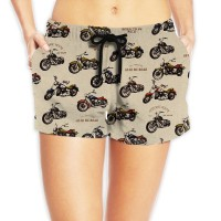 Women's Cotton Beach Shorts with Drawstringswimming. Polyester.